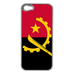 Flag Of Angola Apple Iphone 5 Case (silver)