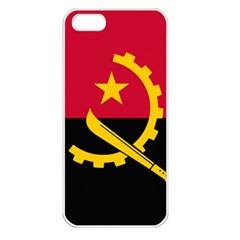 Flag Of Angola Apple Iphone 5 Seamless Case (white)