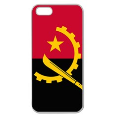 Flag Of Angola Apple Seamless Iphone 5 Case (clear)