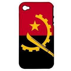 Flag Of Angola Apple Iphone 4/4s Hardshell Case (pc+silicone)