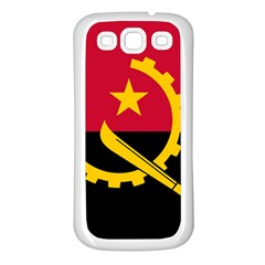 Flag Of Angola Samsung Galaxy S3 Back Case (white)
