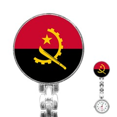 Flag Of Angola Stainless Steel Nurses Watch