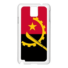 Flag Of Angola Samsung Galaxy Note 3 N9005 Case (white)