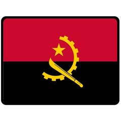 Flag Of Angola Double Sided Fleece Blanket (large)