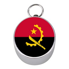 Flag Of Angola Mini Silver Compasses