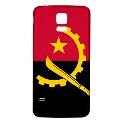 Flag Of Angola Samsung Galaxy S5 Back Case (white)