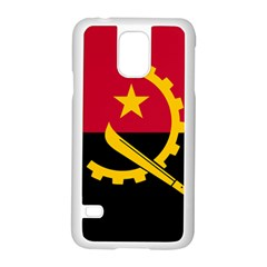 Flag Of Angola Samsung Galaxy S5 Case (white)