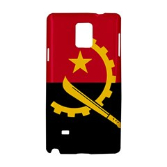 Flag Of Angola Samsung Galaxy Note 4 Hardshell Case by abbeyz71