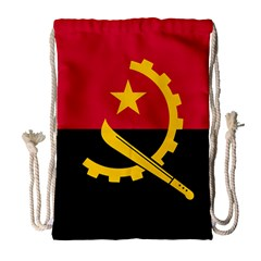 Flag Of Angola Drawstring Bag (large)