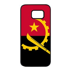 Flag Of Angola Samsung Galaxy S7 Edge Black Seamless Case