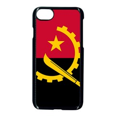 Flag Of Angola Apple Iphone 8 Seamless Case (black)