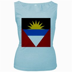 Flag Of Antigua & Barbuda Women s Baby Blue Tank Top