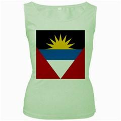 Flag Of Antigua & Barbuda Women s Green Tank Top
