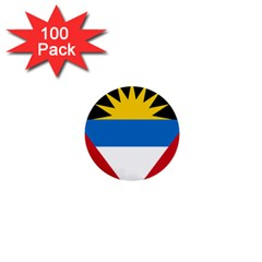 Flag Of Antigua & Barbuda 1  Mini Buttons (100 Pack)