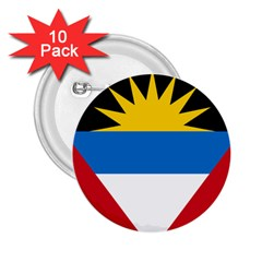 Flag Of Antigua & Barbuda 2 25  Buttons (10 Pack)