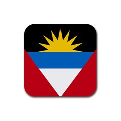 Flag Of Antigua & Barbuda Rubber Square Coaster (4 Pack)