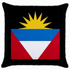Flag Of Antigua & Barbuda Throw Pillow Case (black)