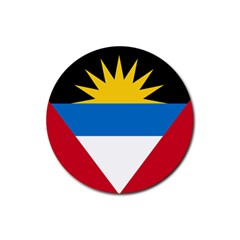 Flag Of Antigua & Barbuda Rubber Round Coaster (4 Pack)