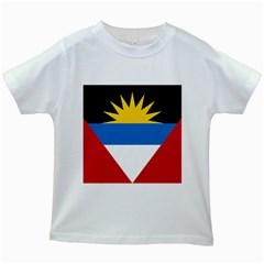 Flag Of Antigua & Barbuda Kids White T Shirts