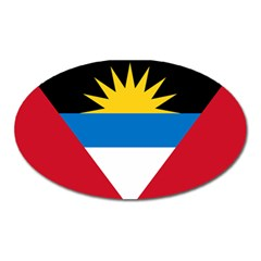 Flag Of Antigua & Barbuda Oval Magnet