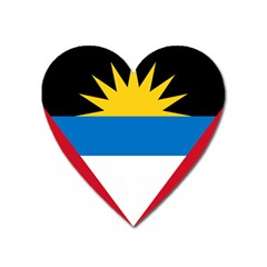 Flag Of Antigua & Barbuda Heart Magnet by abbeyz71