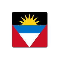 Flag Of Antigua & Barbuda Square Magnet