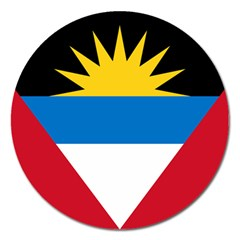 Flag Of Antigua & Barbuda Magnet 5  (round)
