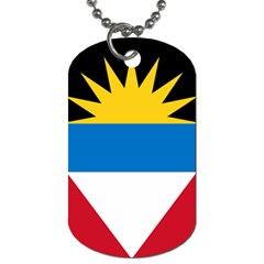 Flag Of Antigua & Barbuda Dog Tag (one Side)