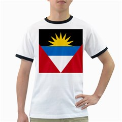 Flag Of Antigua & Barbuda Ringer T Shirts