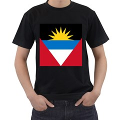 Flag Of Antigua & Barbuda Men s T Shirt (black) (two Sided)