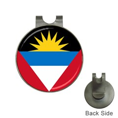 Flag Of Antigua & Barbuda Hat Clips With Golf Markers