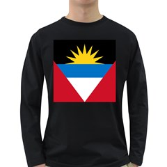 Flag Of Antigua & Barbuda Long Sleeve Dark T Shirts