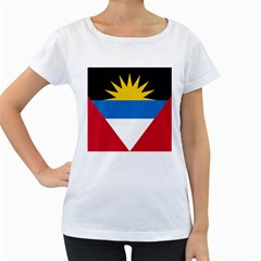 Flag Of Antigua & Barbuda Women s Loose Fit T Shirt (white)