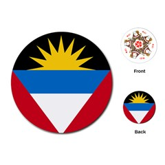 Flag Of Antigua & Barbuda Playing Cards (round)  by abbeyz71