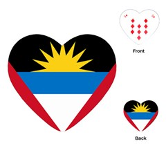 Flag Of Antigua & Barbuda Playing Cards (heart)  by abbeyz71