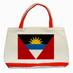Flag Of Antigua & Barbuda Classic Tote Bag (red) by abbeyz71