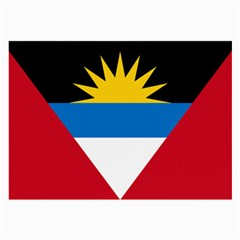 Flag Of Antigua & Barbuda Large Glasses Cloth (2 Side) by abbeyz71