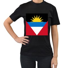 Flag Of Antigua & Barbuda Women s T Shirt (black)