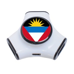 Flag Of Antigua & Barbuda 3 Port Usb Hub