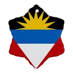 Flag Of Antigua & Barbuda Snowflake Ornament (two Sides)