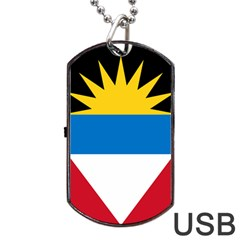 Flag Of Antigua & Barbuda Dog Tag Usb Flash (two Sides)