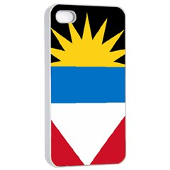 Flag Of Antigua & Barbuda Apple Iphone 4/4s Seamless Case (white)