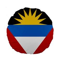 Flag Of Antigua & Barbuda Standard 15  Premium Round Cushions