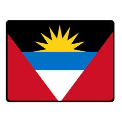 Flag Of Antigua & Barbuda Double Sided Fleece Blanket (small)