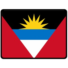Flag Of Antigua & Barbuda Double Sided Fleece Blanket (large)