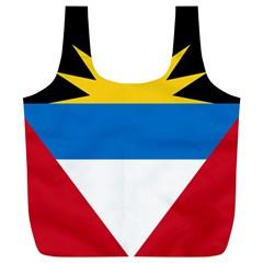 Flag Of Antigua & Barbuda Full Print Recycle Bags (l)  by abbeyz71