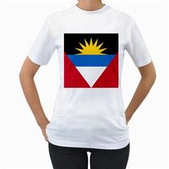 Flag Of Antigua & Barbuda Women s T Shirt (white)