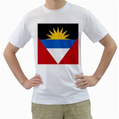 Flag Of Antigua & Barbuda Men s T Shirt (white)