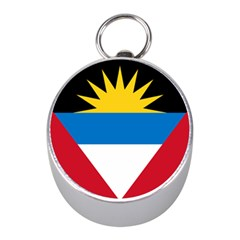 Flag Of Antigua & Barbuda Mini Silver Compasses