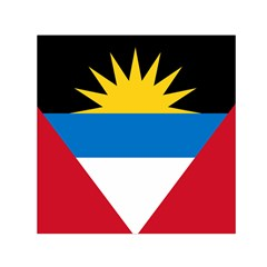 Flag Of Antigua & Barbuda Small Satin Scarf (square)